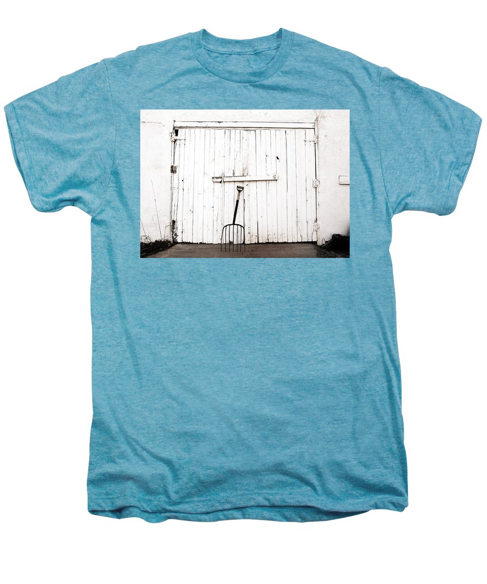 Americana Men's Premium T-Shirt featuring the photograph Pitch Fork by Marilyn Hunt