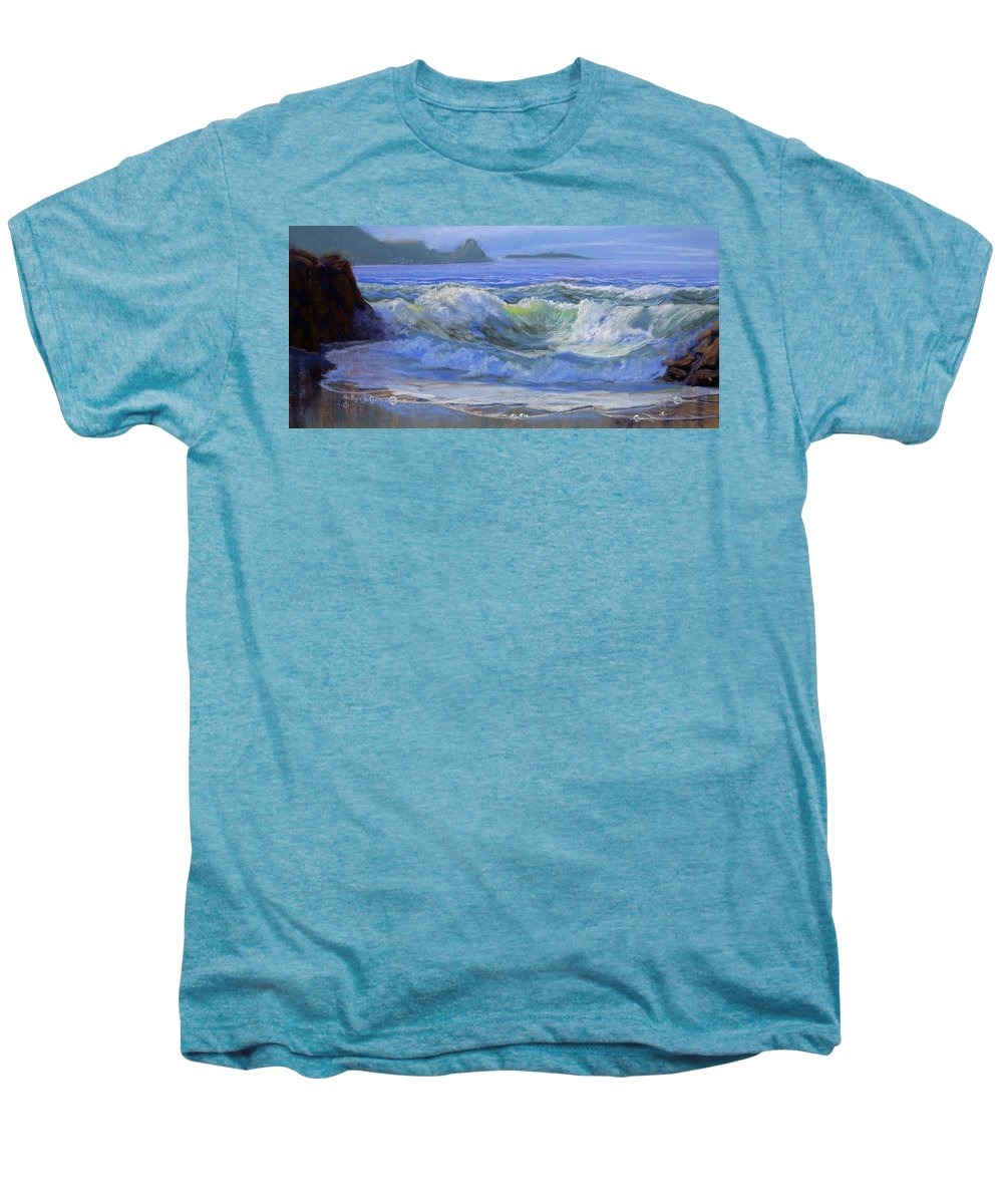 Seascape Men's Premium T-Shirt featuring the painting Point Reyes by Heather Coen