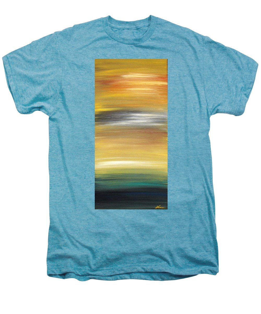 Waves Men's Premium T-Shirt featuring the painting Pond by Todd Hoover
