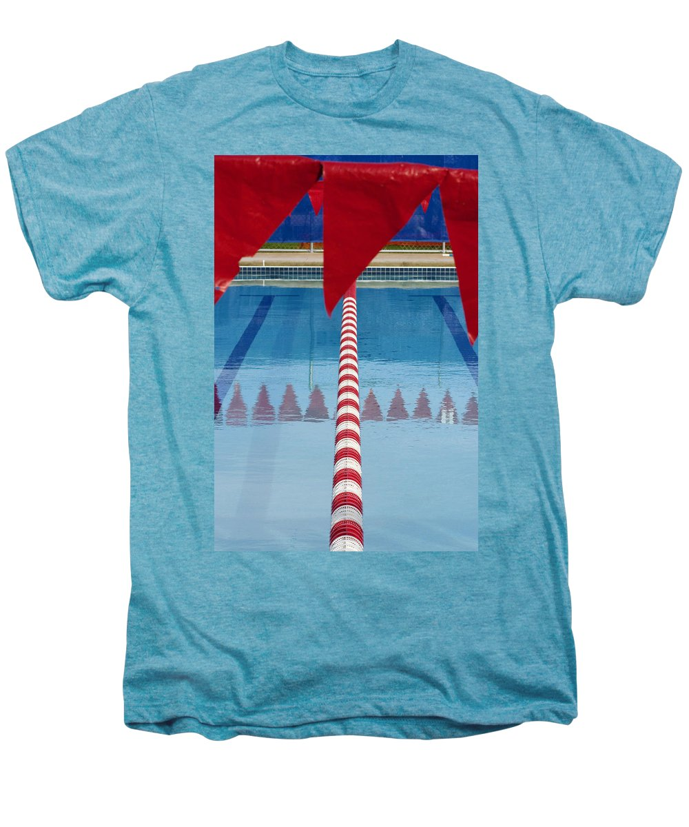 Flag Men's Premium T-Shirt featuring the photograph Pool by Skip Hunt