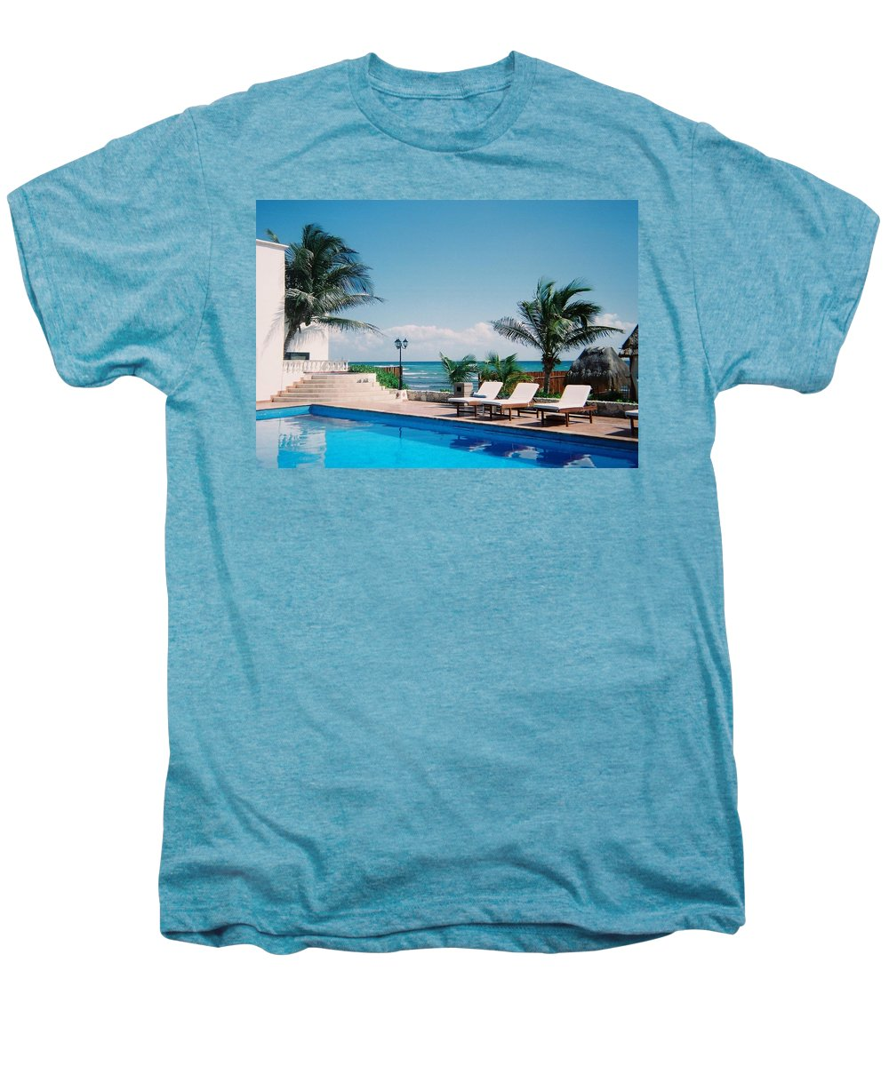 Resort Men's Premium T-Shirt featuring the photograph Poolside by Anita Burgermeister