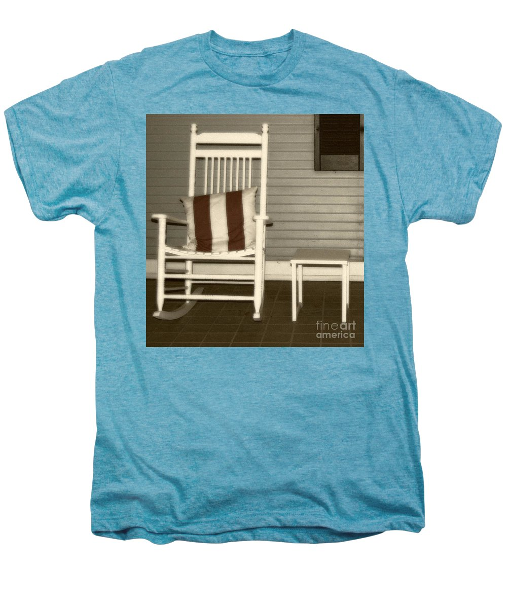 Rocking Chair Men's Premium T-Shirt featuring the photograph Porch Rocker by Debbi Granruth
