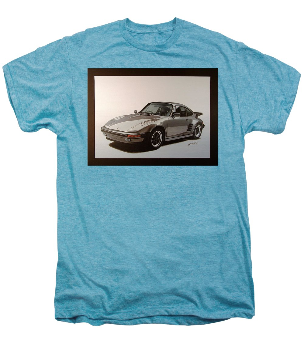 Car Men's Premium T-Shirt featuring the painting Porsche by Shawn Stallings