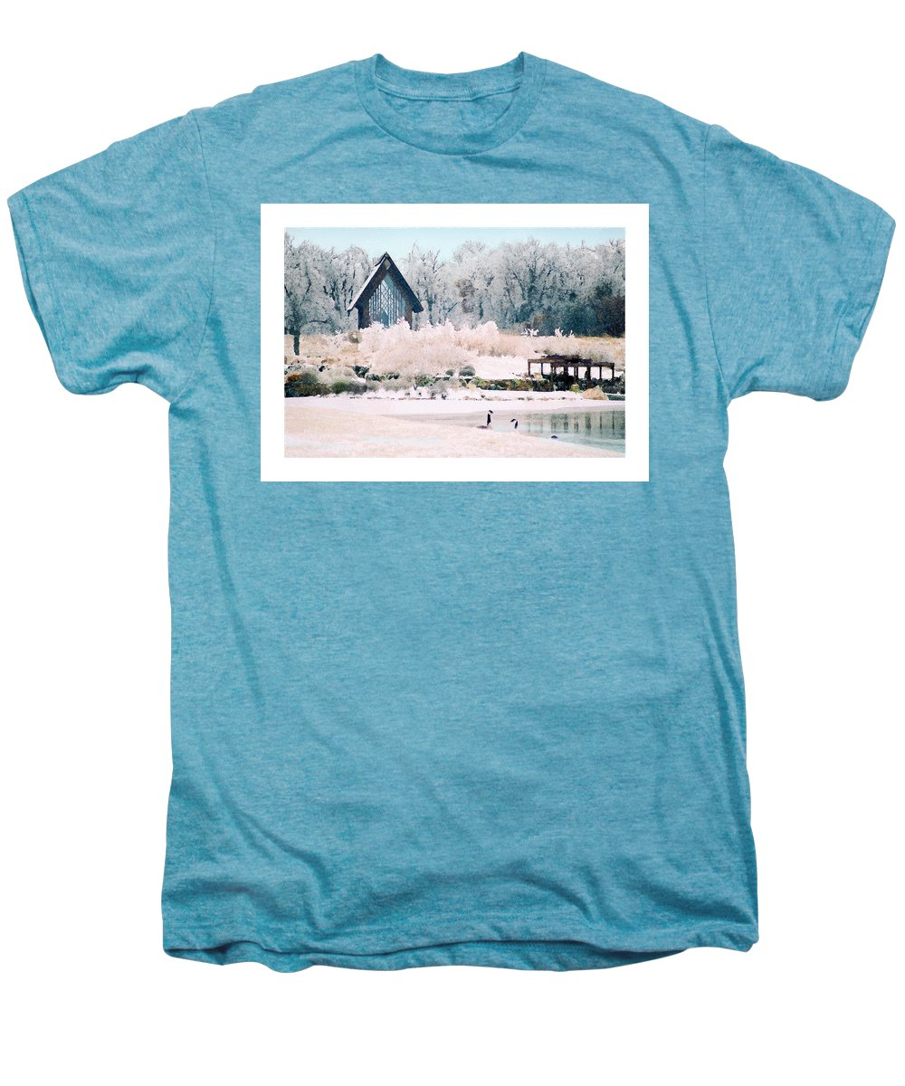 Landscape Men's Premium T-Shirt featuring the photograph Powell Gardens Chapel by Steve Karol