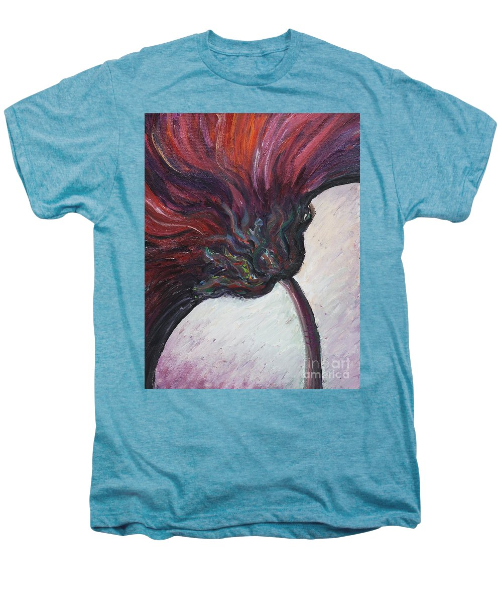 Purple Men's Premium T-Shirt featuring the painting Power Of Purple by Nadine Rippelmeyer