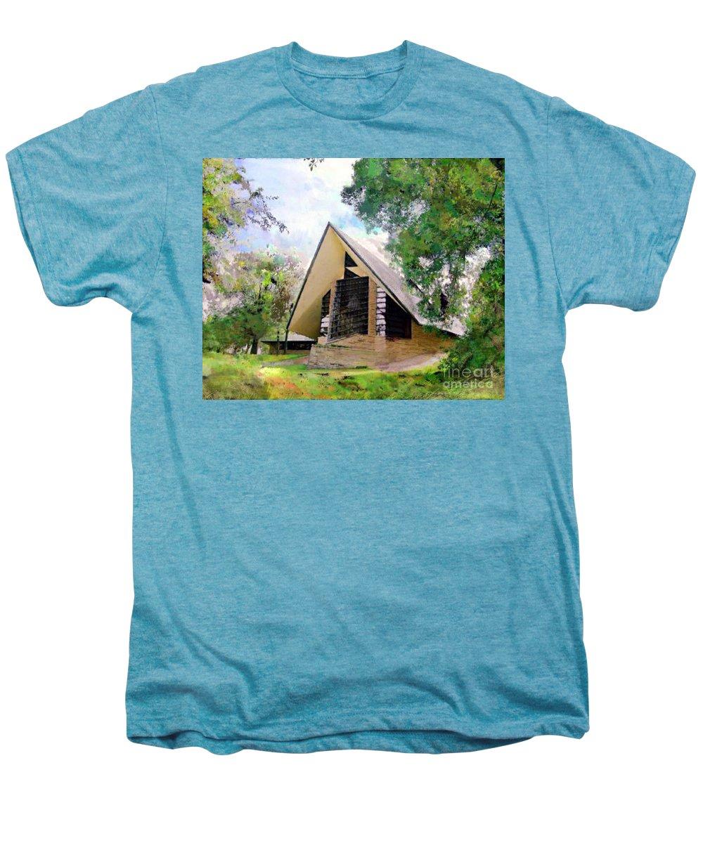 Praying Hands Men's Premium T-Shirt featuring the digital art Praying Hands by John Beck
