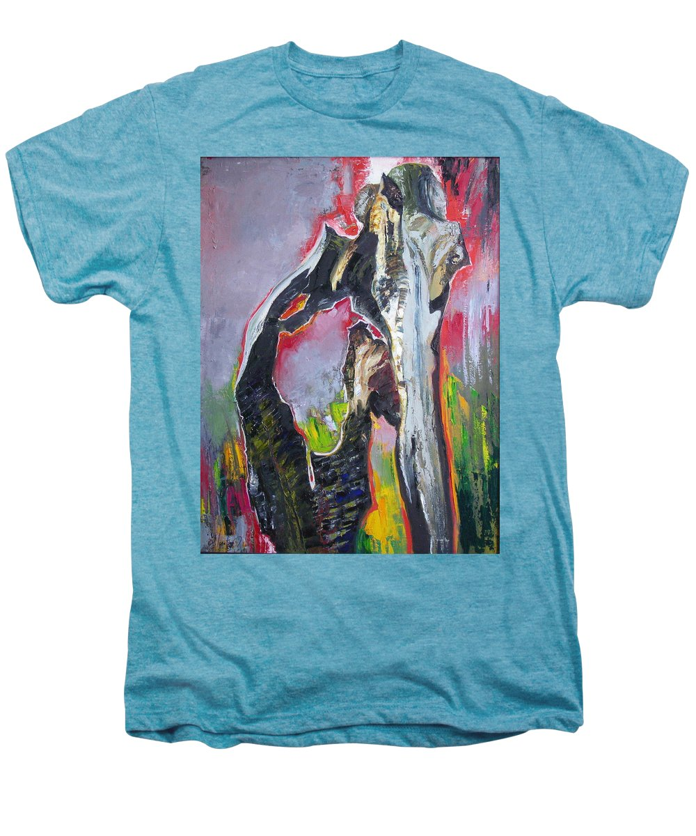 Oil Men's Premium T-Shirt featuring the painting Presentiment by Sergey Ignatenko