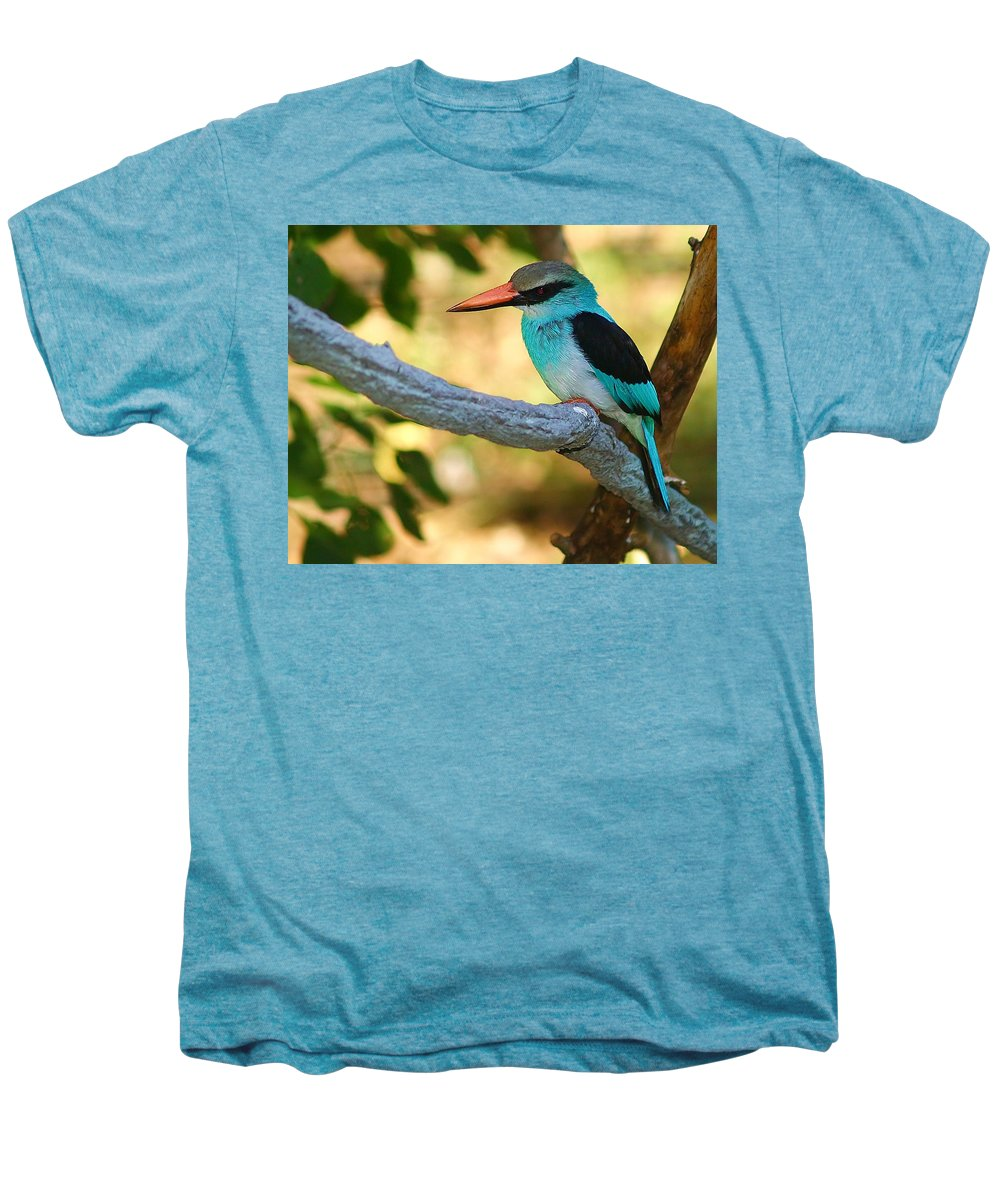 Kingfisher Men's Premium T-Shirt featuring the photograph Pretty Bird by Gaby Swanson