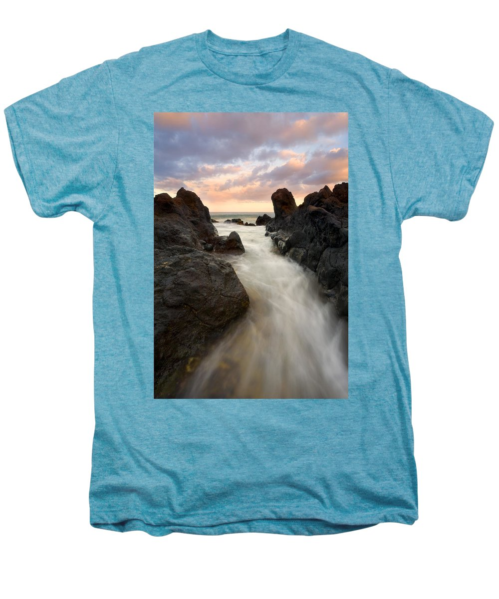 Sunrise Men's Premium T-Shirt featuring the photograph Primordial Tides by Mike Dawson