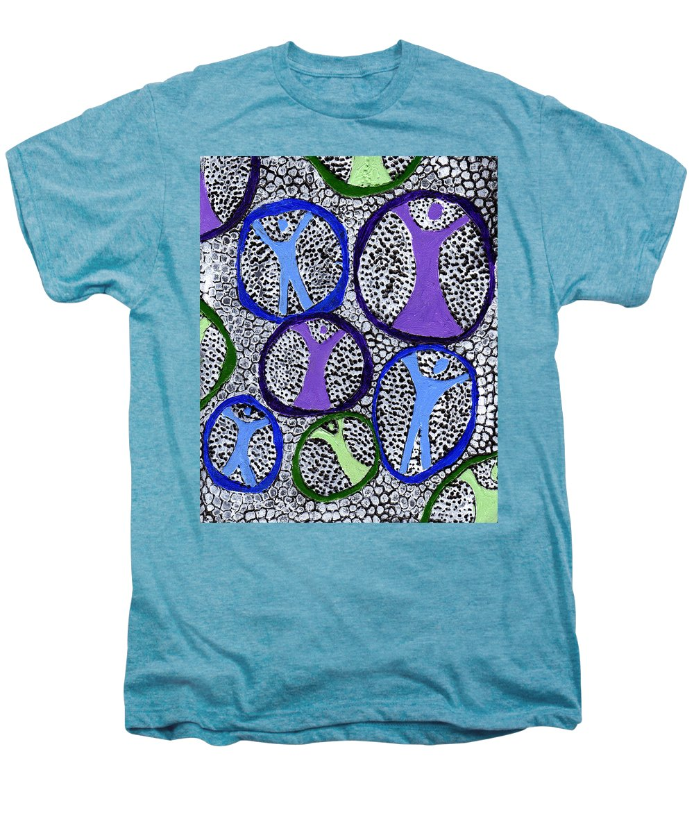Symbolic Men's Premium T-Shirt featuring the painting Protection Isolation by Wayne Potrafka