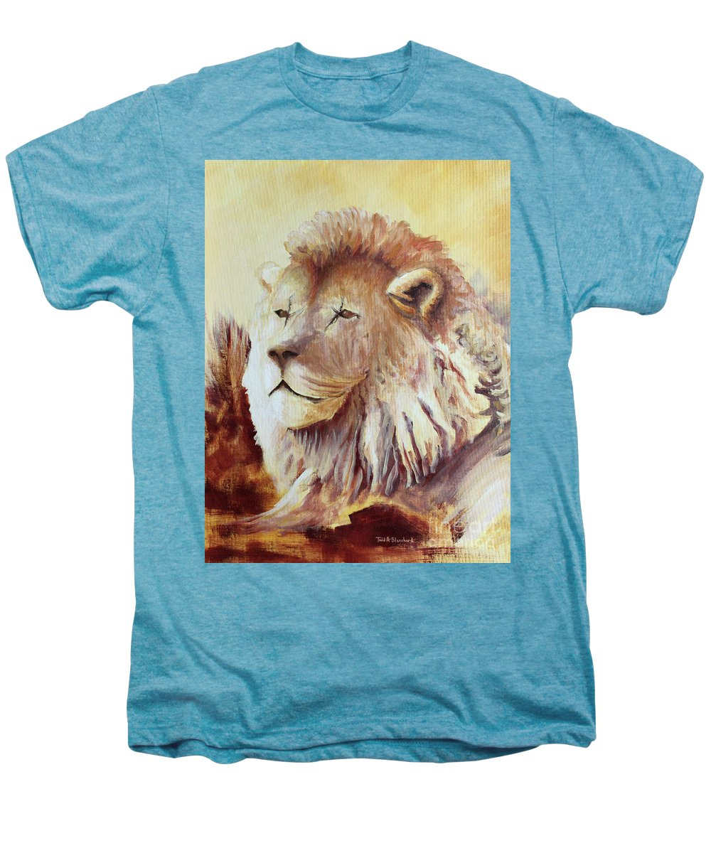 Animal Men's Premium T-Shirt featuring the painting Proud by Todd A Blanchard
