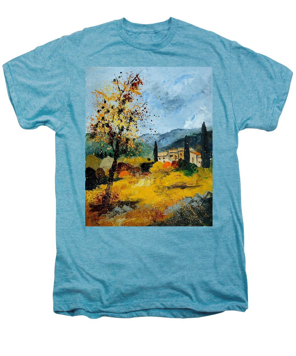 Provence Men's Premium T-Shirt featuring the painting Provence 45 by Pol Ledent