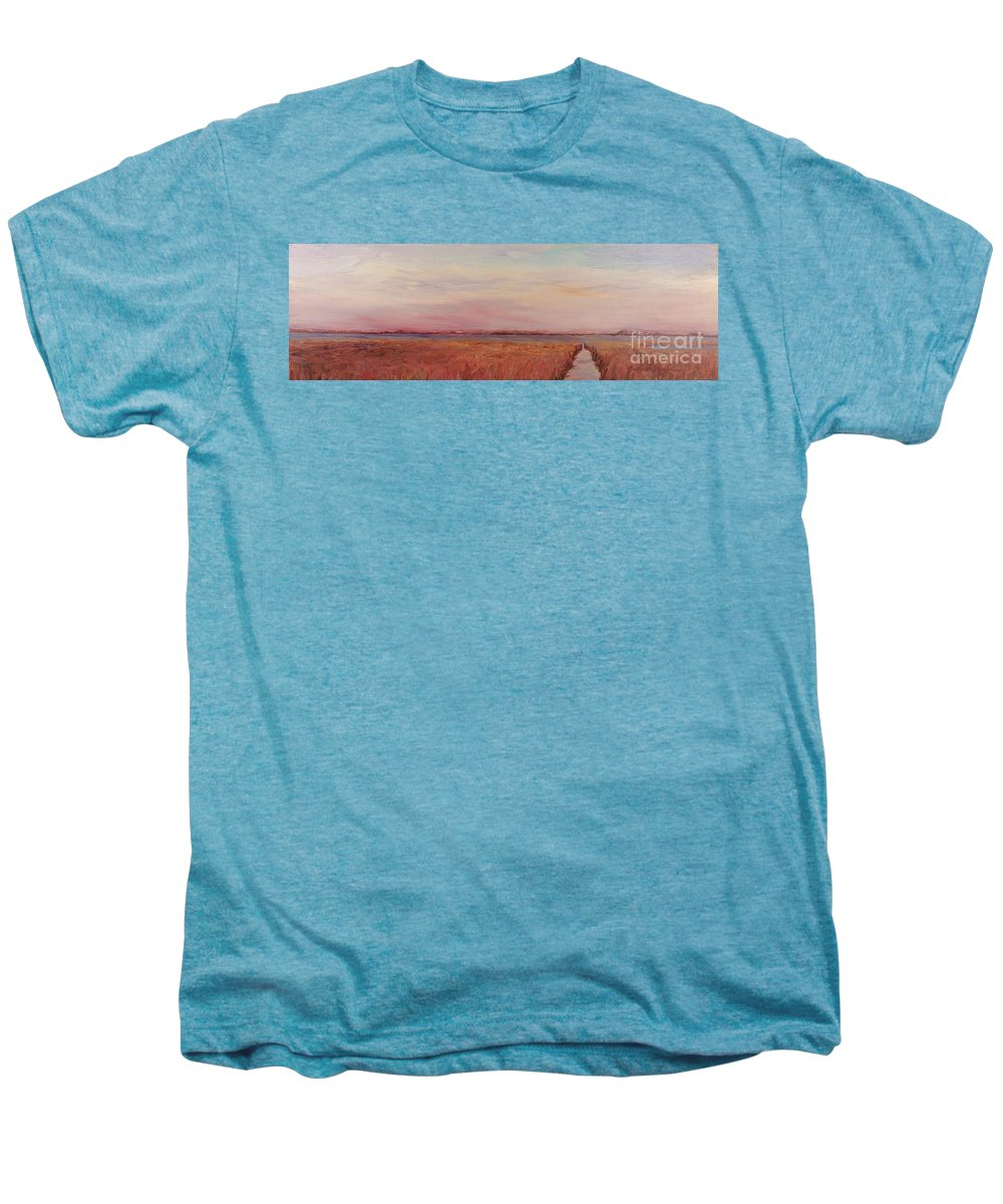 Landscape Men's Premium T-Shirt featuring the painting Provence Camargue by Nadine Rippelmeyer