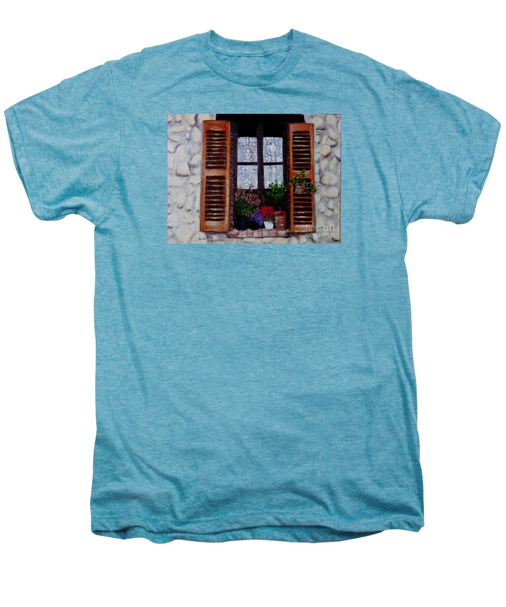 Provence Men's Premium T-Shirt featuring the painting Provence Morning by Laurie Morgan