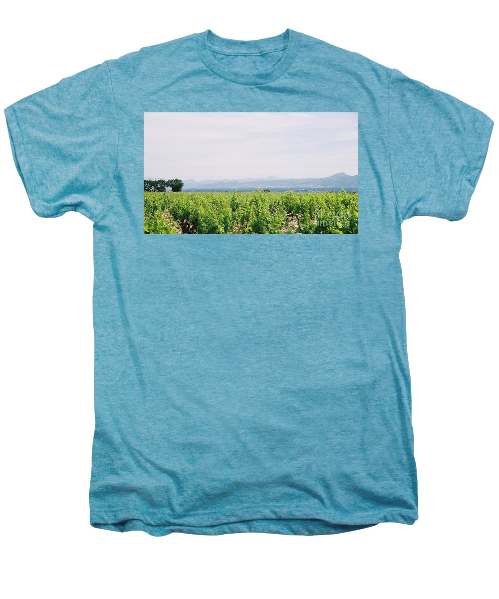 France Men's Premium T-Shirt featuring the photograph Provence Spring Vineyard by Nadine Rippelmeyer