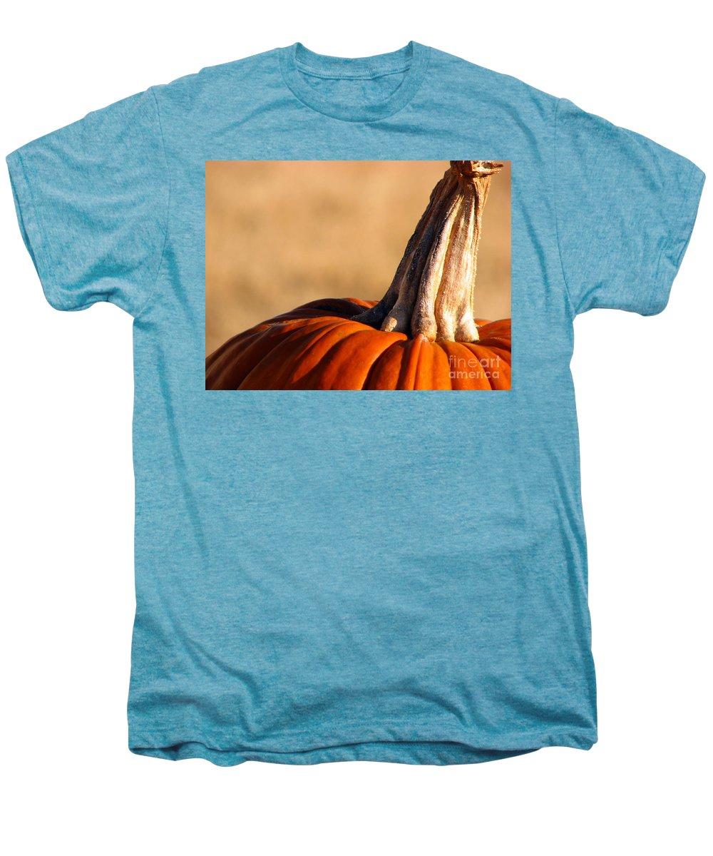 Pumpkins Men's Premium T-Shirt featuring the photograph Pumpkin by Amanda Barcon