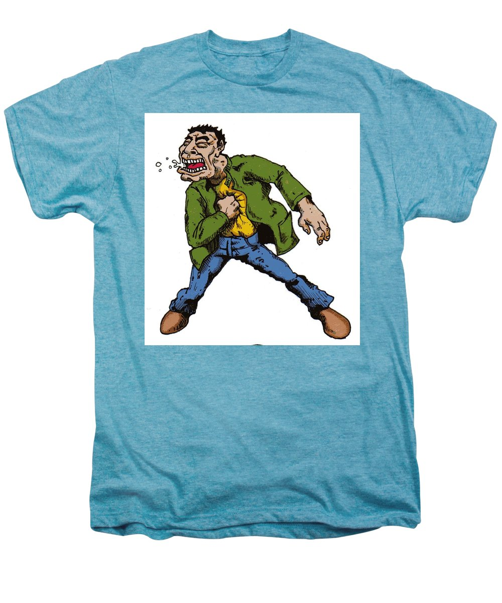 Illustration Men's Premium T-Shirt featuring the drawing Punch by Tobey Anderson