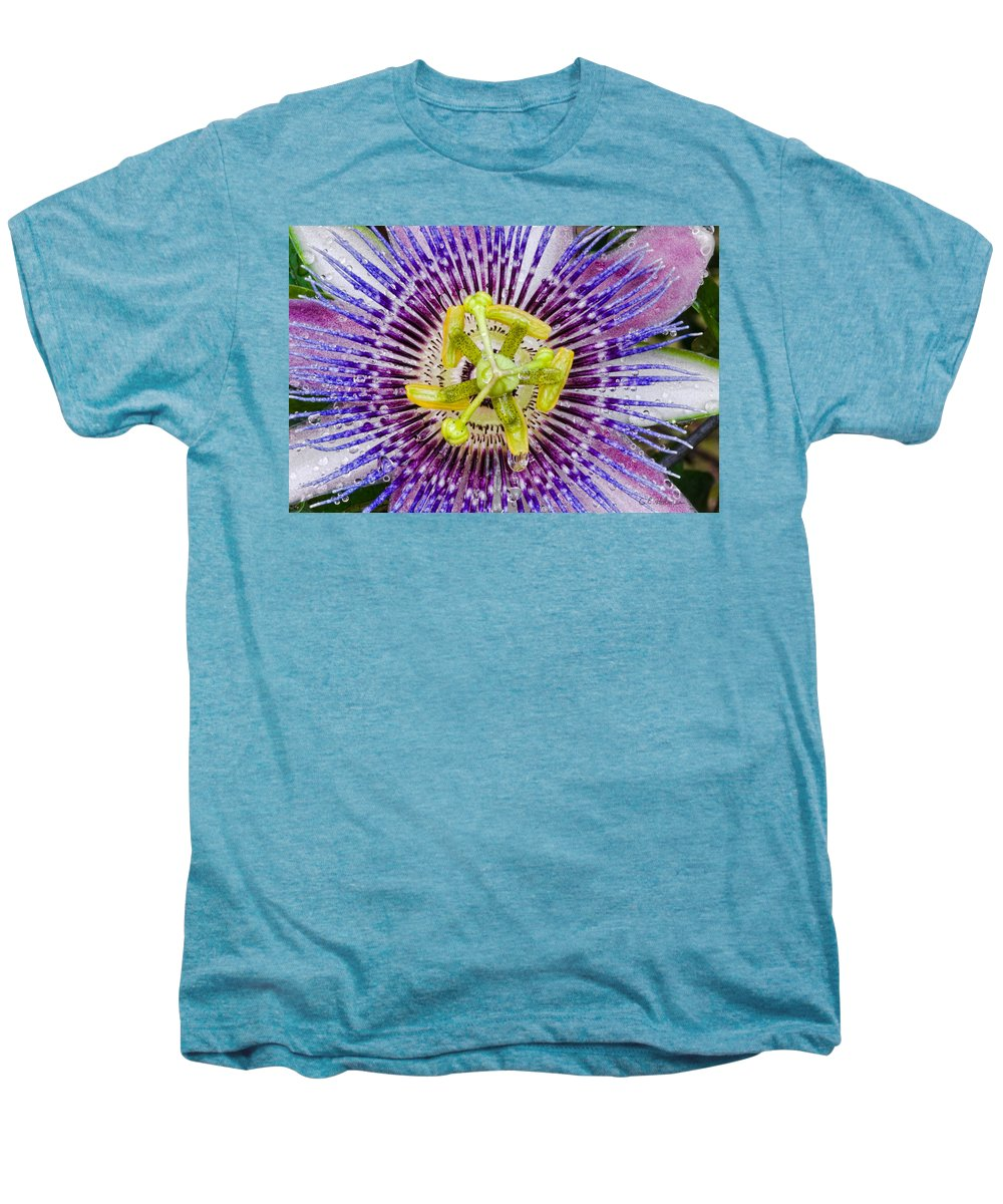 Passion Men's Premium T-Shirt featuring the photograph Purple Radial by Christopher Holmes