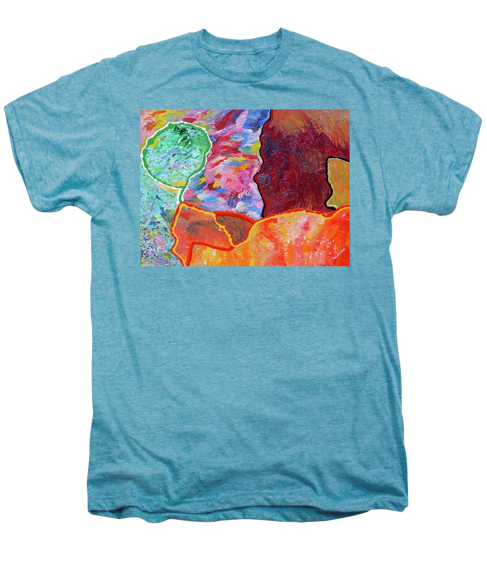 Fusionart Men's Premium T-Shirt featuring the painting Puzzle by Ralph White