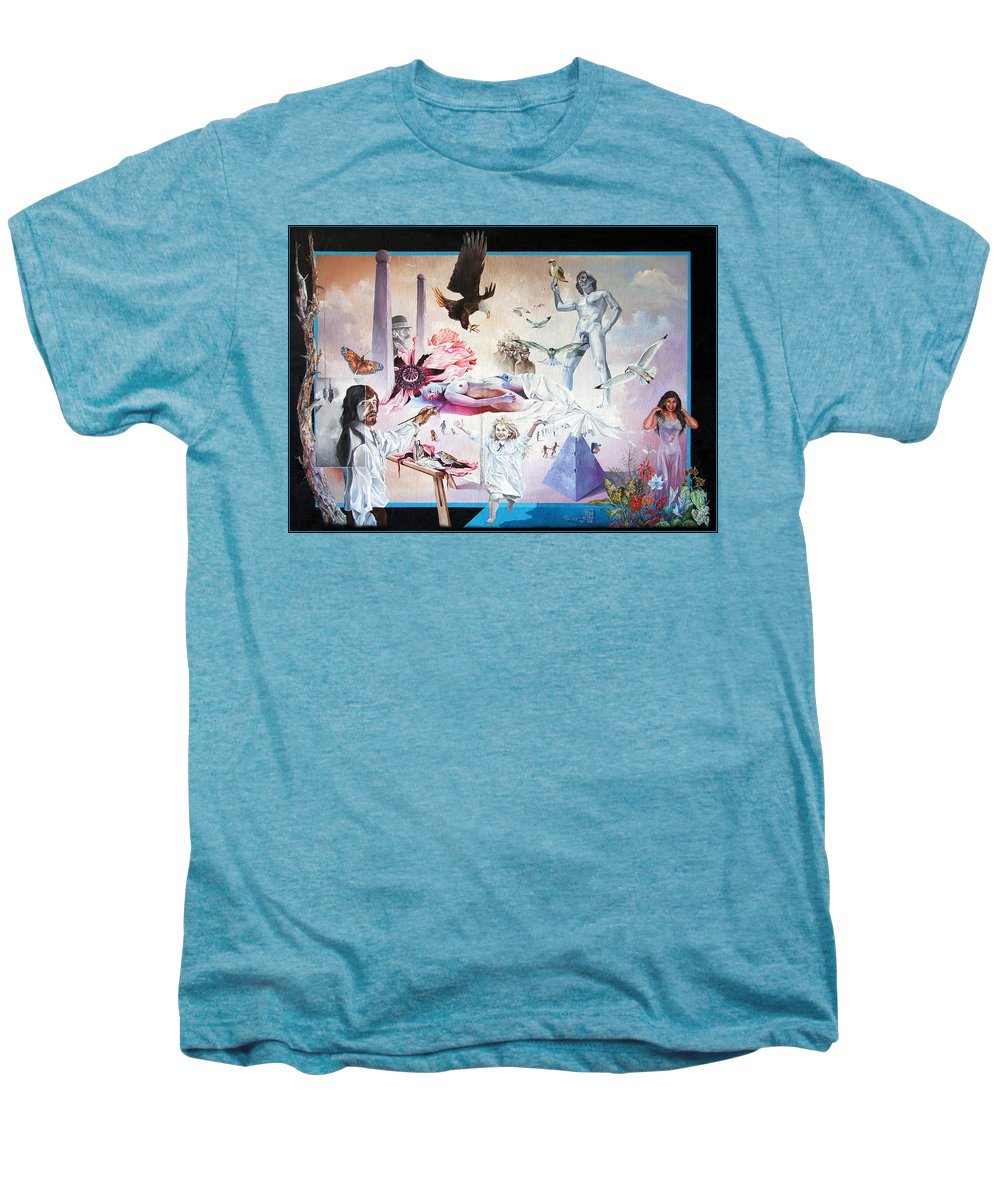 Surrealism Men's Premium T-Shirt featuring the painting Quiet Afternoon At The Studio by Otto Rapp
