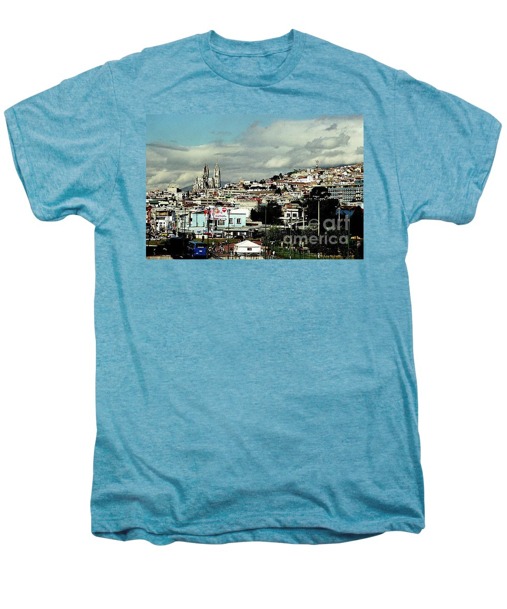 Ecuador Men's Premium T-Shirt featuring the photograph Quito by Kathy McClure