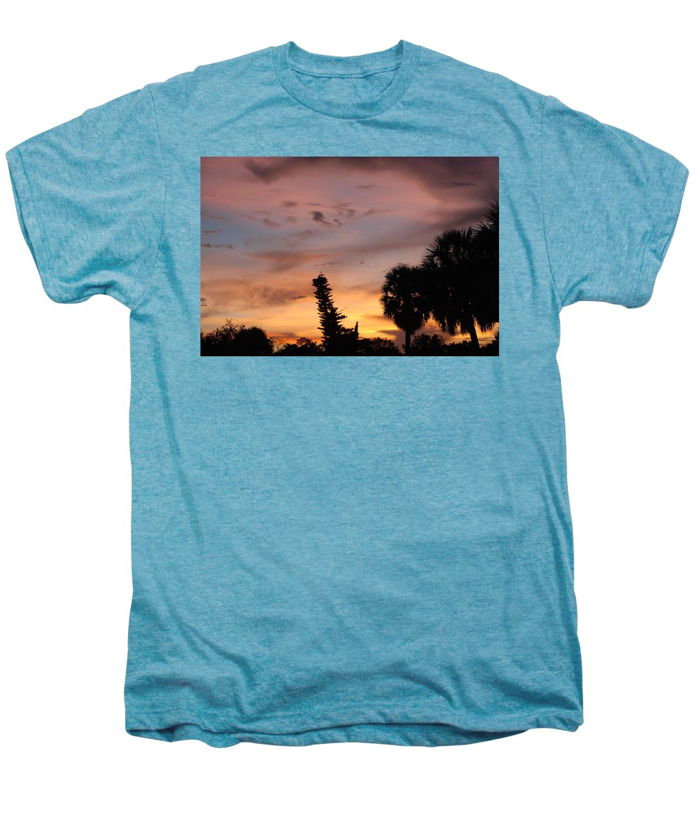 Sunset Men's Premium T-Shirt featuring the photograph Rainbow Sunset by Rob Hans