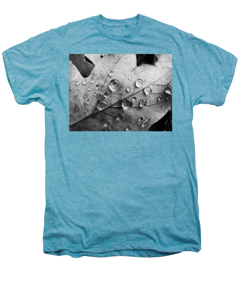 Drops Men's Premium T-Shirt featuring the photograph Raindrops by Daniel Csoka