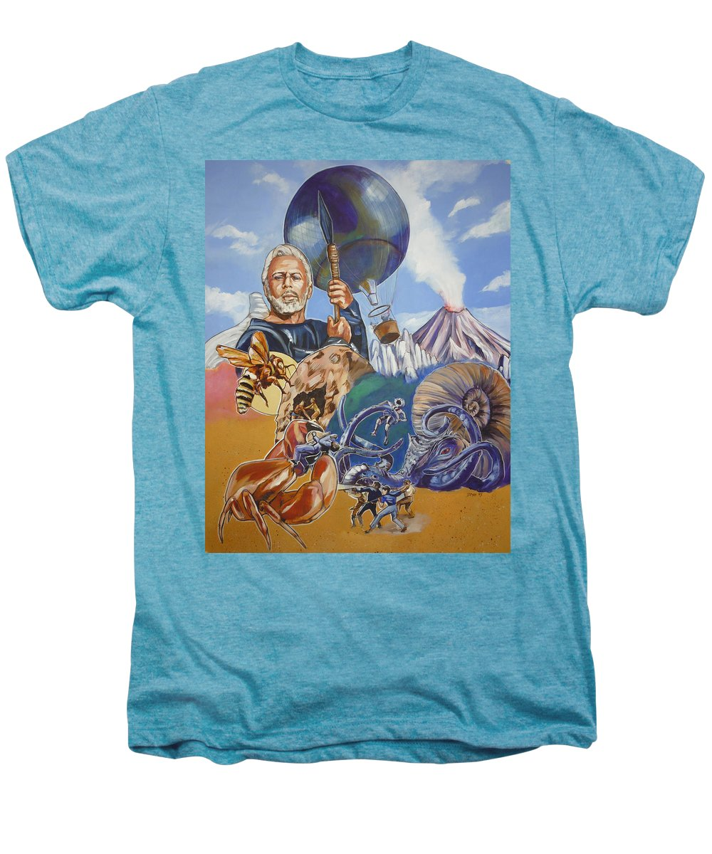 Mysterious Island Men's Premium T-Shirt featuring the painting Ray Harryhausen Tribute The Mysterious Island by Bryan Bustard