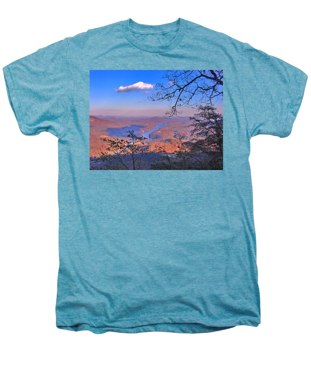 Landscape Men's Premium T-Shirt featuring the photograph Reaching For A Cloud by Steve Karol