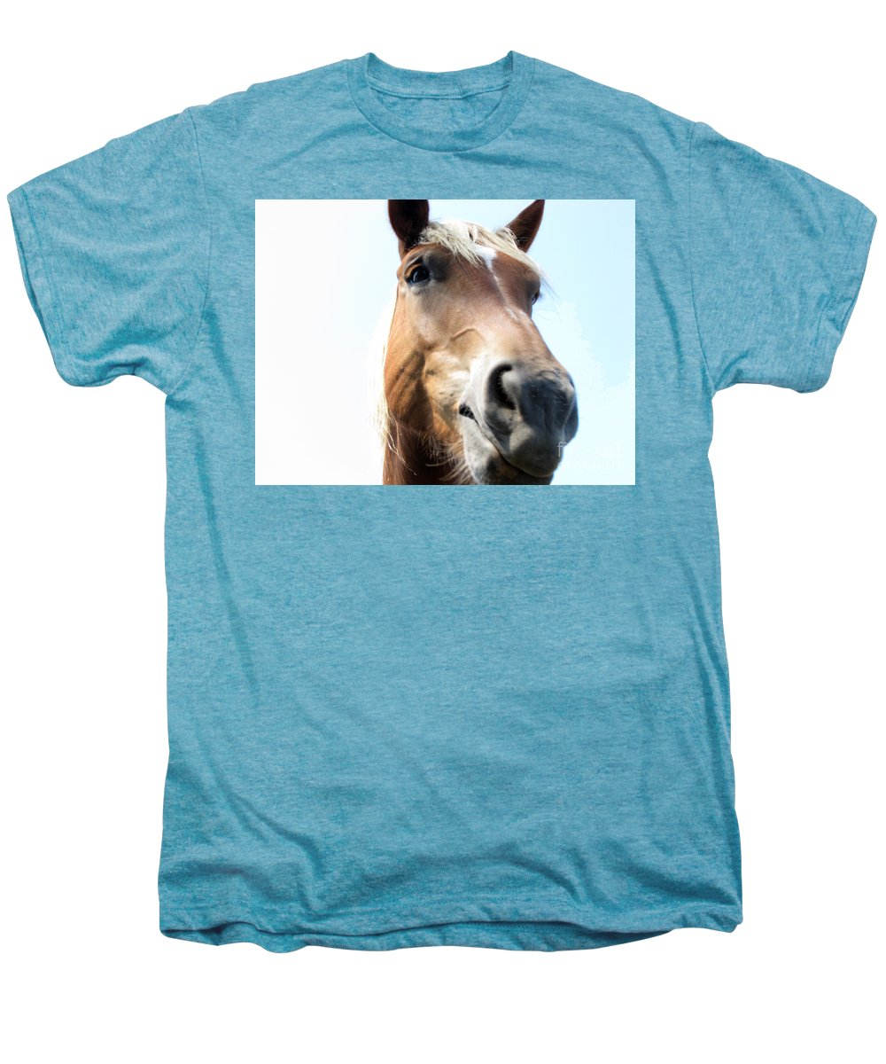 Horse Men's Premium T-Shirt featuring the photograph Really by Amanda Barcon