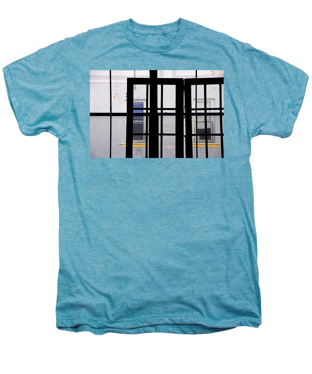 Skip Hunt Men's Premium T-Shirt featuring the photograph Rear Window 1 by Skip Hunt