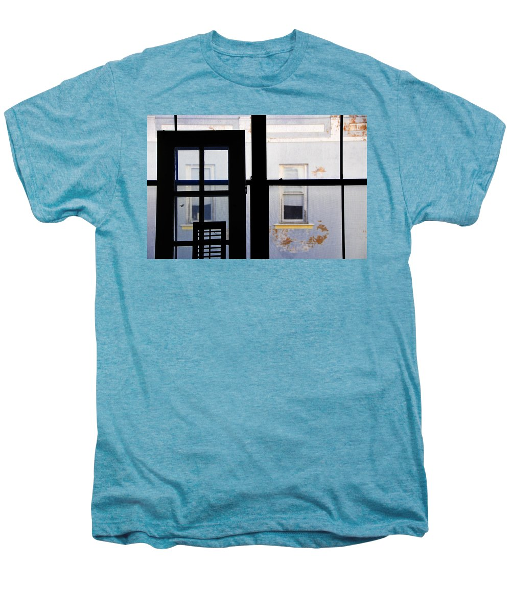 Architecture Men's Premium T-Shirt featuring the photograph Rear Window 3 by Skip Hunt