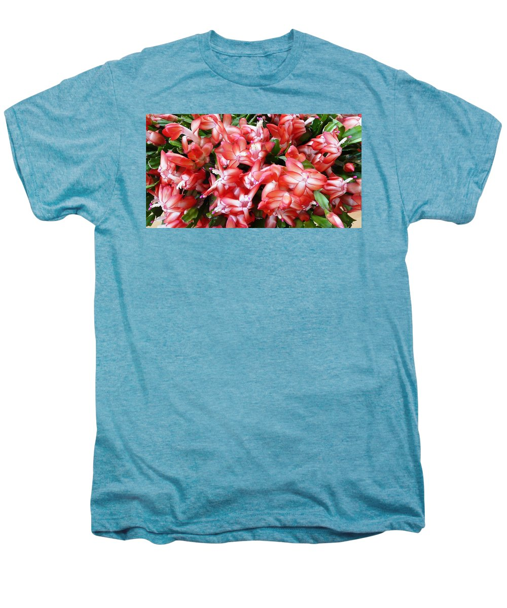 Plant Men's Premium T-Shirt featuring the photograph Red Abundance by Valerie Ornstein