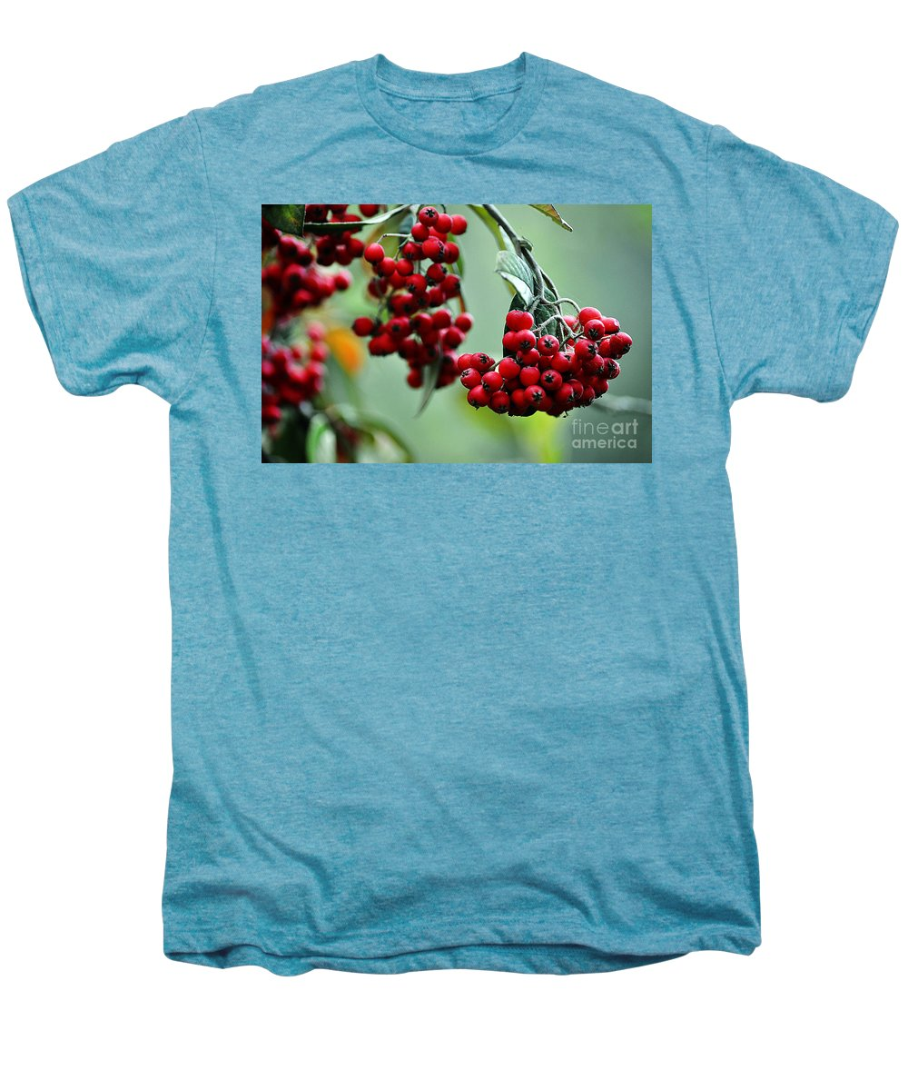 Clay Men's Premium T-Shirt featuring the photograph Red Berries by Clayton Bruster