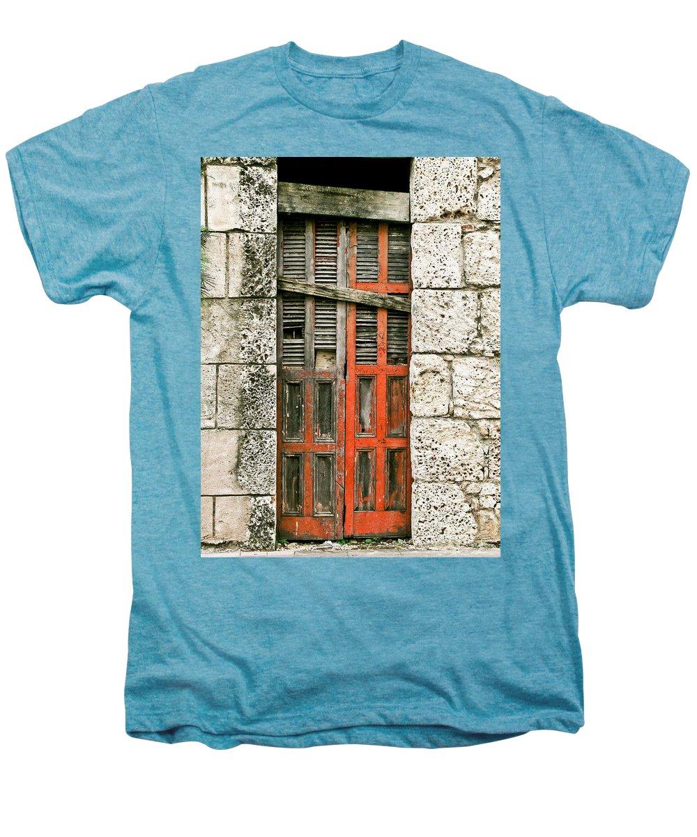 Door Men's Premium T-Shirt featuring the photograph Red Door by Douglas Barnett