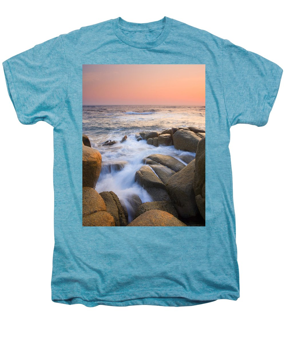 Sunrise Men's Premium T-Shirt featuring the photograph Red Sky At Morning by Mike Dawson