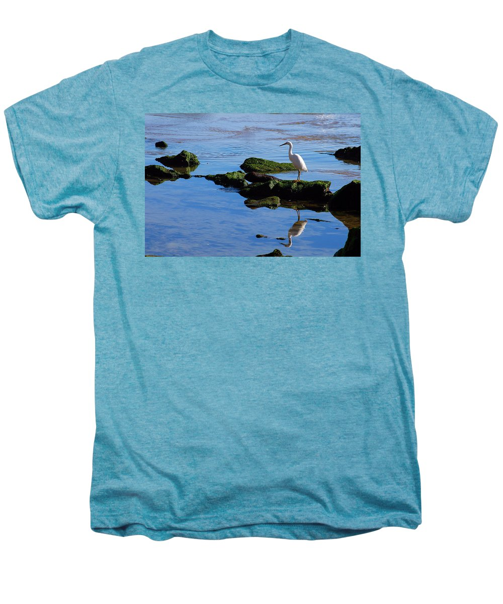 Clay Men's Premium T-Shirt featuring the photograph Reflecting On Dinner by Clayton Bruster