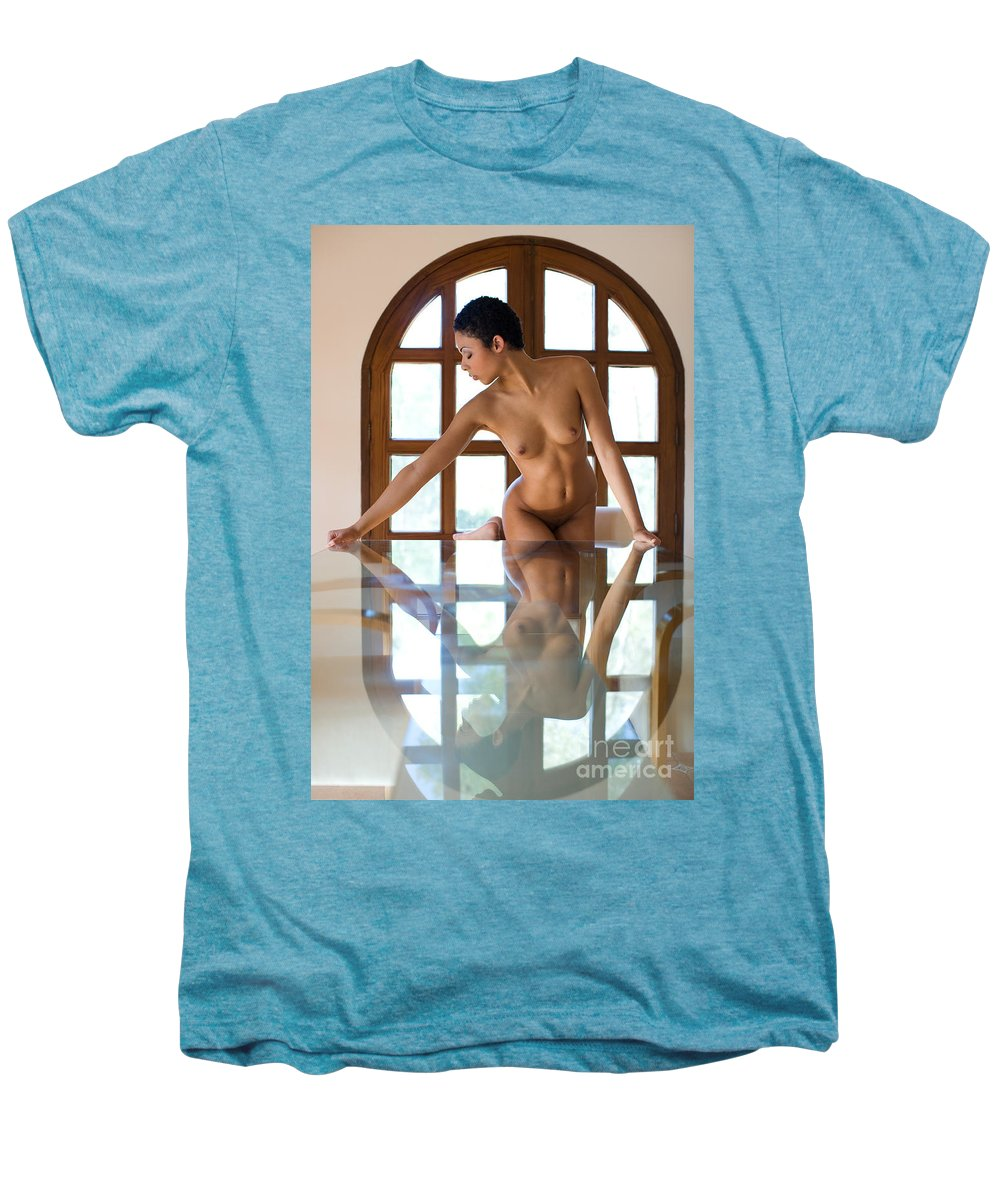 Sensual Men's Premium T-Shirt featuring the photograph Reflection Time Again by Olivier De Rycke