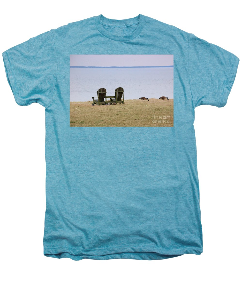 Chairs Men's Premium T-Shirt featuring the photograph Relax by Debbi Granruth