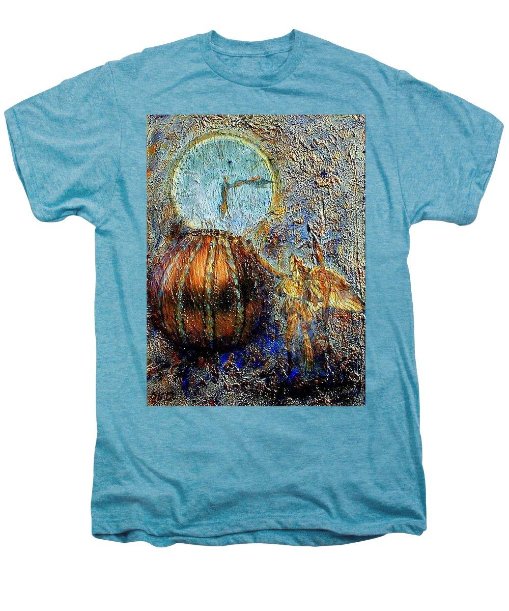 Christian Men's Premium T-Shirt featuring the mixed media Revelation by Gail Kirtz