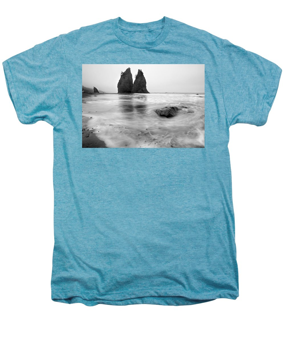Beach Men's Premium T-Shirt featuring the photograph Rialto Reflections by Mike Dawson