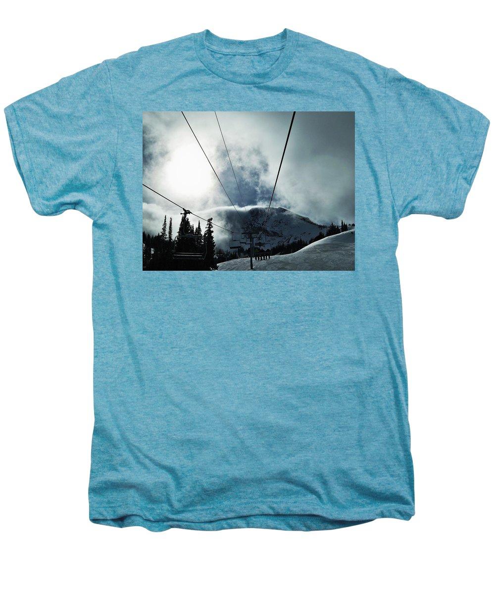 Landscape Men's Premium T-Shirt featuring the photograph Rise To The Sun by Michael Cuozzo
