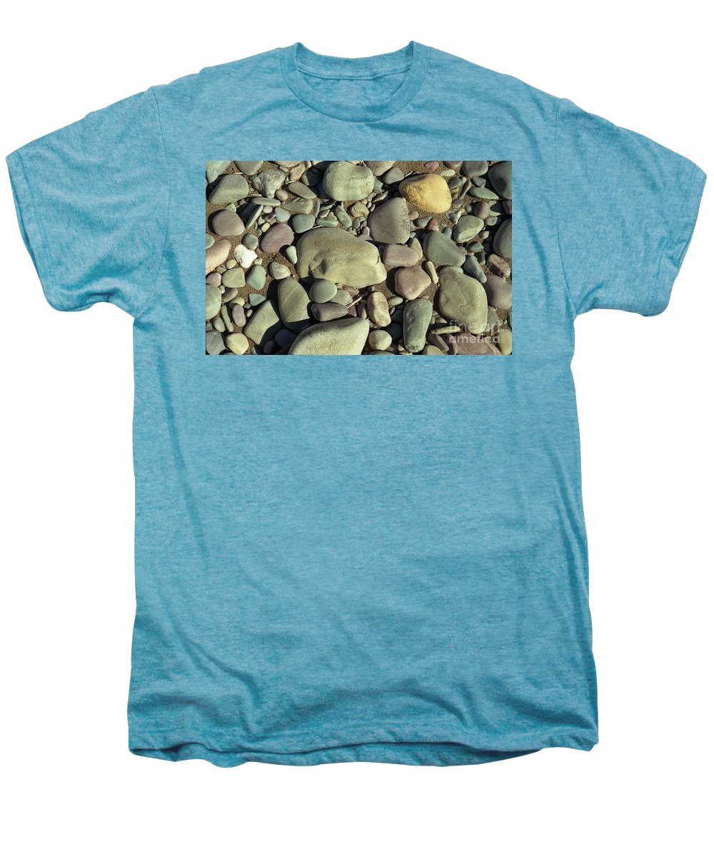 River Rock Men's Premium T-Shirt featuring the photograph River Rock by Richard Rizzo