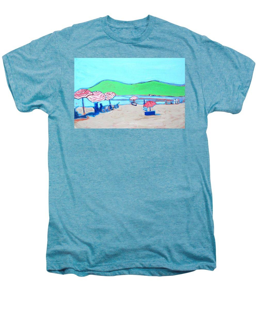 Seashore Men's Premium T-Shirt featuring the painting Riviera by Kurt Hausmann
