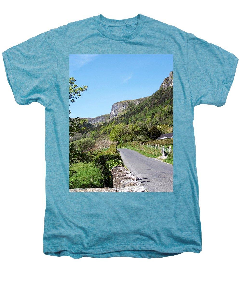 Irish Men's Premium T-Shirt featuring the photograph Road To Benbulben County Leitrim Ireland by Teresa Mucha