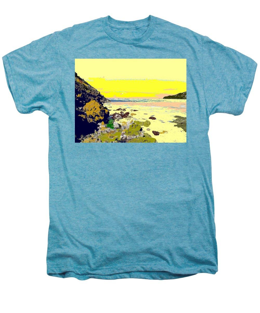 Beach Men's Premium T-Shirt featuring the photograph Rocky Beach by Ian MacDonald