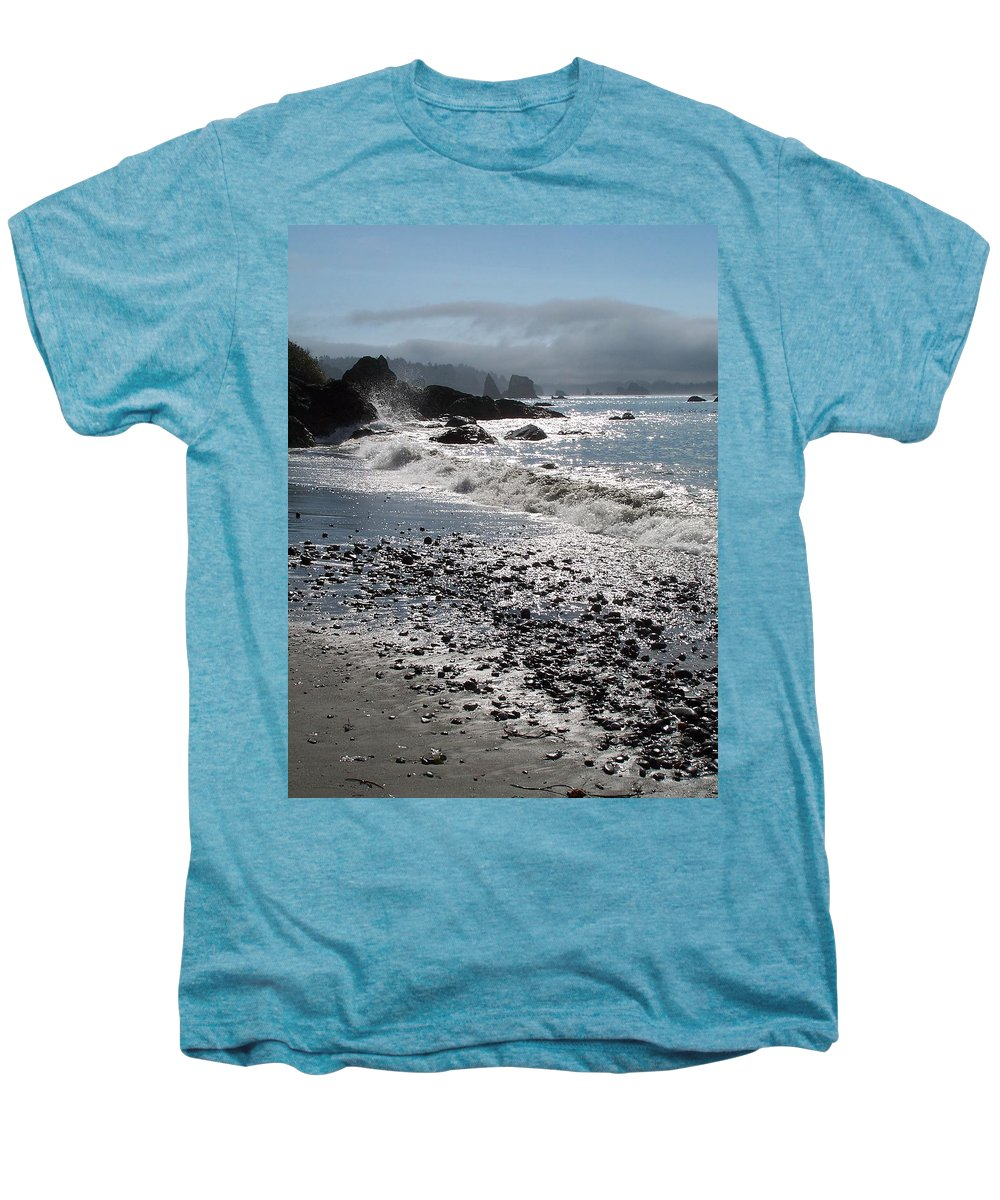Ocean Men's Premium T-Shirt featuring the photograph Rocky Shores by Gale Cochran-Smith