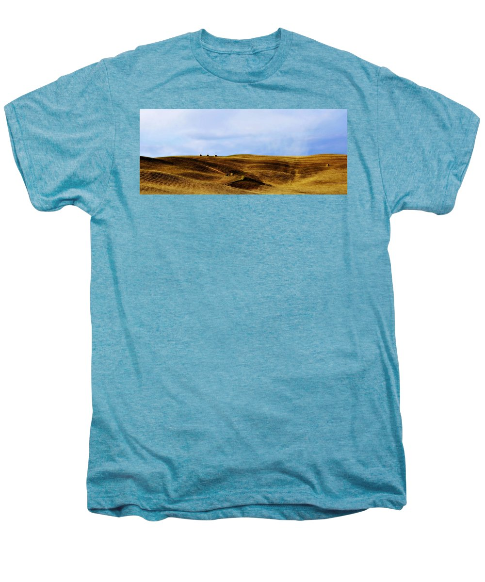 Italy Men's Premium T-Shirt featuring the photograph Rolling Hills Of Hay by Marilyn Hunt