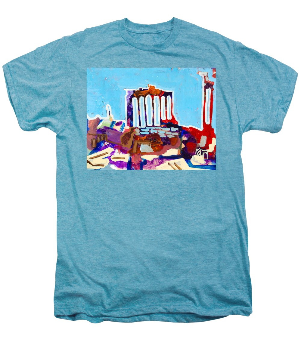 Rome Men's Premium T-Shirt featuring the painting Rome by Kurt Hausmann