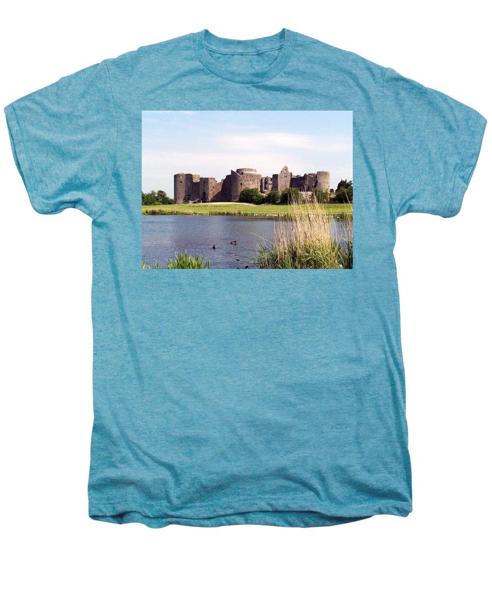 Roscommon Men's Premium T-Shirt featuring the photograph Roscommon Castle Ireland by Teresa Mucha